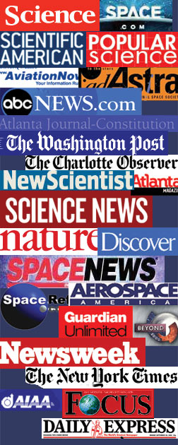 Graphic showing the different publications that have written articles concerning NIAC.